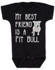 vBabies Best Friend Love-a-bull Bodysuit personalized dog lover Bodysuit unique baby shower gift personalized baby birthday gift cute pit bull baby clothes badass baby clothes punk rock baby badass dog Bodysuit black