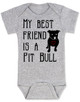Babies Best Friend Love-a-bull Bodysuit personalized dog lover Bodysuit unique baby shower gift personalized baby birthday gift cute pit bull baby clothes badass baby clothes punk rock baby badass dog Bodysuit grey