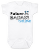 Future Badass Personalized Baby Girl Bodysuit, skull baby onsie, personalized with custom name