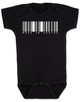 Made in Vagina baby Bodysuit, barcode baby onsie, made in china, made in Vachina, black