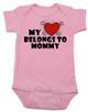 My heart belongs to Mommy Bodysuit, I love my mommy infant bodysuit, My mommy rocks, Badass mom baby onsie, Valentines day baby Bodysuit, Rock n Roll Valentine's, Badass Baby Valentine, pink