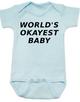 World's Okayest Baby Bodysuit, BlueWorlds best baby