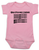 Golf Foxtrot Yankee, Military baby Bodysuit, Go Fuck Yourself, American Flag onsie, pink
