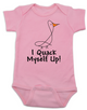 I quack myself up baby Bodysuit, funny ducky baby onsie, I crack myself up, cute and funny baby gift, pink