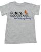 Future Smartass toddler shirt, Smart-ass Dad, Smart Ass Mom, Funny parents, Smart Ass toddler t-shirt, Future toddler shirt, Smartass like Daddy, grey