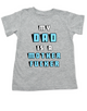 My Dad is a Mother Fucker toddler shirt, Funny offensive baby shower or birthday gift, daddy is a mother fucker, grey