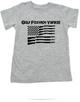 Golf Foxtrot Yankee, Military toddler shirt, Go Fuck Yourself, American Flag toddler t-shirt, grey