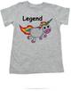 Unicorn Legend toddler shirt, rainbow unicorn, funny unicorn toddler shirt, badass unicorn kid t-shirt, badass little girl shirt, grey