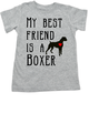 My Best Friend is a Boxer toddler shirt, Boxer Puppy Love toddler t-shirt, kids Best Friend, Fur baby best friend, Love my doggy toddler shirt, personalized dog lover toddler shirt, unique baby shower or birthday gift, personalized toddler birthday gift, cute I love my dog kid clothes, badass dog toddler shirt, Rescue dog toddler shirt, personalized dog toddler shirt, grey