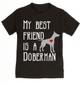 My Best Friend is a Doberman toddler shirt, Doberman Puppy Love toddler t-shirt, kids Best Friend, Fur baby best friend, Love my doggy, personalized dog lover toddler shirt, unique baby shower or birthday gift, personalized kid birthday gift, cute I love my dog kid clothes, badass dog toddler shirt, Rescue dog toddler shirt, personalized dog toddler shirt