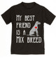 My Best Friend is a Mix Breed toddler shirt, Mixed Breed Puppy Love toddler t-shirt, kids Best Friend, Love-a-Mutt, personalized dog lover toddler shirt, unique baby shower or birthday gift, personalized kid birthday gift, cute I love my dog kid clothes, badass dog toddler shirt, Rescue dog toddler shirt, I love my rescue dog kid tee, toddler shirt with custom dog name, personalized toddler shirt, black