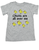 Chicks toddler shirt, chicks are all over me toddler t-shirt, chicks dig me, little ladies man, funny chicks toddler shirt, grey