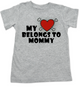 My heart belongs to Mommy toddler shirt, I love my mommy kid t shirt, My mommy rocks, Badass mom toddler t-shirt, Valentines day toddler shirt, Rock n Roll Valentine's, Badass kid Valentine, grey