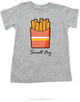 Small Fry toddler shirt, funny fast food toddler t-shirt, French fries kid shirt, Small Fry Kid tshirt, grey