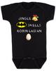 Jingle bells, batman smells, funny christmas baby clothes, robin laid an egg, funny jingle bells Bodysuit, silly christmas onsie, black
