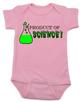 Product of Science baby Bodysuit, test tube baby, fertility treatments, in vitro fertilization, artificial insemination, funny infertility baby Bodysuit, geeky fertility onsie, pink