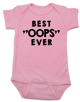 """Best OOPS ever baby Bodysuit, unplanned pregnancy, best accident baby onsie, Best """"OOPS"""" ever, funny baby shower gag gift, happy accident, pink"""