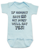 My Aunt will say YES baby Bodysuit, if mommy says no my aunt will say yes, funny Aunt personalized baby Bodysuit, spoiled by my aunt, my auntie spoils me, cool aunt baby Bodysuit, I love my funny aunt infant bodysuit, custom aunt baby onsie, blue