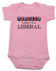 Grandma thinks I'm a Liberal baby Bodysuit, Little Liberal, Liberal Baby, Democrat baby, Republican grandparents, funny political baby Bodysuit, Future Democrat, Future Republican, 2016 Election baby Bodysuit, funny election baby, pink