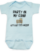Party in my crib baby onesie, Party people baby shower gift set, party parents baby gift