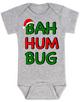 Bah Humbug christmas baby Bodysuit, funny christmas baby clothes, christmas carol baby Bodysuit, humbug, grey