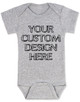 Design your own custom baby Bodysuit, create your own infant bodysuit, Personalized baby onsie, One of a kind baby present, customized baby gift, grey