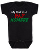 Bad Hombre Baby Bodysuit, my dad is a bad hombre, bad dude bad hombre, funny trump baby Bodysuit, funny political baby Bodysuit, bad hombre infant bodysuit, black