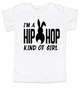 Hip Hop kind of guy toddler shirt, hip hop kind of girl toddler shirt, Cool Easter kid tshirt, funny easter toddler shirt, hip hop music kid shirt, Easter toddler gift for hip parents, I'm a hip hop kind of girl, white