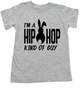 Hip Hop kind of guy toddler shirt, hip hop kind of girl toddler shirt, Cool Easter kid tshirt, funny easter toddler shirt, hip hop music kid shirt, Easter toddler gift for hip parents, I'm a hip hop kind of guy, grey