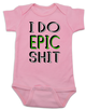 I do epic shit baby Bodysuit, EPIC BABY, extreme baby Bodysuit, extreme sports parents, totally epic baby gift, baby gift for epic new parents, future extreme sports player, epic baby shit Bodysuit, badass baby onsie, pink