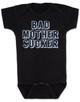 Bad Mother Sucker Baby Bodysuit, Pulp Fiction, Bad Mother Fucker Wallet, Samuel Jackson movie, Funny breastfeeding onsie, black