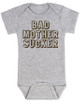 Bad Mother Sucker Baby Bodysuit, Pulp Fiction, Bad Mother Fucker Wallet, Samuel Jackson movie, Funny breastfeeding onsie, grey