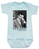 Nikola Tesla quote baby Bodysuit, fuck edison tesla quote, funny science baby onsie, blue