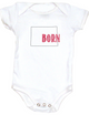 Born in Colorado Bodysuit. Show your Home State pride. Unique, cool, badass baby clothes. Makes a great baby shower gift.