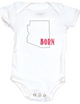 Born in Arizona Bodysuit. Show your Home State pride. Unique, cool, badass baby clothes. Makes a great baby shower gift.