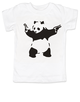 Banksy panda with guns baby toddler shirt, Banksy kids clothing, white