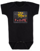 funny chalkboard baby Bodysuit, P + V = ME, penis + vagina = babies, funny offensive baby Bodysuit, grey