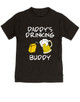Daddy's drinking buddy, Drinking buddies father and child, Dad's drinking buddy toddler shirt, beer and juice box, Dad's best friend, drinking with daddy, daddy drinking buddy kid shirt, toddler gift for beer drinking parents, funny beer toddler shirt, black
