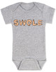 Swole baby Bodysuit, muscle baby Bodysuit, i work out baby Bodysuit, do you even lift, SWOLE infant bodysuit, strong like daddy, strong like mommy, baby gift for fit parents, funny work out baby, muscular baby, weight lifting baby gift, grey