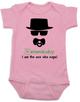 Breaking Bad Baby Bodysuit, HeisenBaby, I am the one who naps, Heisenburg, Badass baby, Breaking Dad, pink