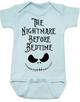 Nightmare before bedtime baby Bodysuit, funny christmas baby clothes, nightmare before christmas, jack the pumpkin king, blue