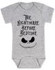 Nightmare before bedtime baby Bodysuit, funny christmas baby clothes, nightmare before christmas, jack the pumpkin king, grey