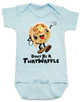 Don't be a Twatwaffle, punny baby bodysuit, offensive baby clothes, funny baby gift, cute waffle with face, twatwaffle cartoon, twat waffle gift, rude baby, badass baby, blue