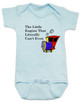 The little engine that could, literally can't even baby onesie, Little engine baby gift, funny train baby bodysuit, funny bookish baby gift, Book reference baby onesie, Little Engine Literally Can't Even, funny childrens book parody, nursery rhyme funny onesie, funny book baby bodysuit, Train engine baby onesie, blue