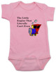 The little engine that could, literally can't even baby onesie, Little engine baby gift, funny train baby bodysuit, funny bookish baby gift, Book reference baby onesie, Little Engine Literally Can't Even, funny childrens book parody, nursery rhyme funny onesie, funny book baby bodysuit, Train engine baby onesie, pink