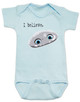 Abominable snowman bodysuit, i believe in abominable snowman, i believe in yeti, yeti baby bodysuit, cute abominable snowman baby, abominable movie, blue