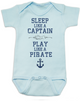 Pirate baby gift set, Little Pirate Baby Box, Sleep like a captain, Play like a pirate, baby shower gift for ocean lovers, i come from the water, water baby gift, cool baby Pirate gift set