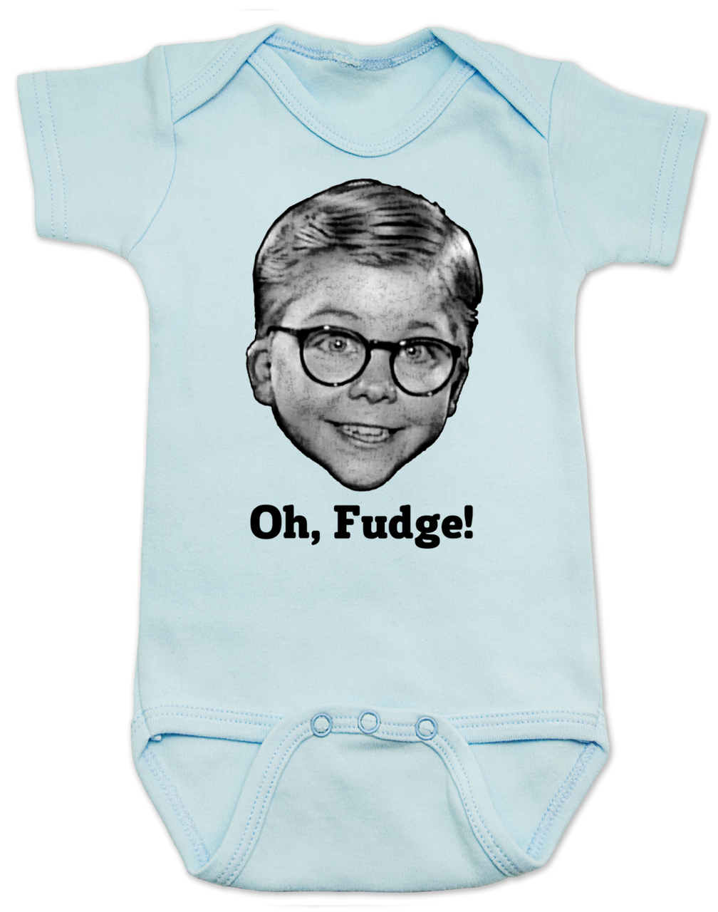 a christmas story baby bodysuit oh fudge ralphie soap poisoning red rider