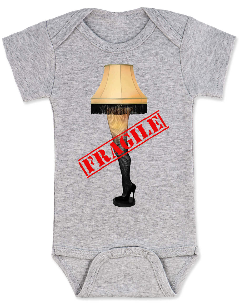 Christmas Story Leg Lamp Baby Bodysuit Fragile Onsie Classic Movie A