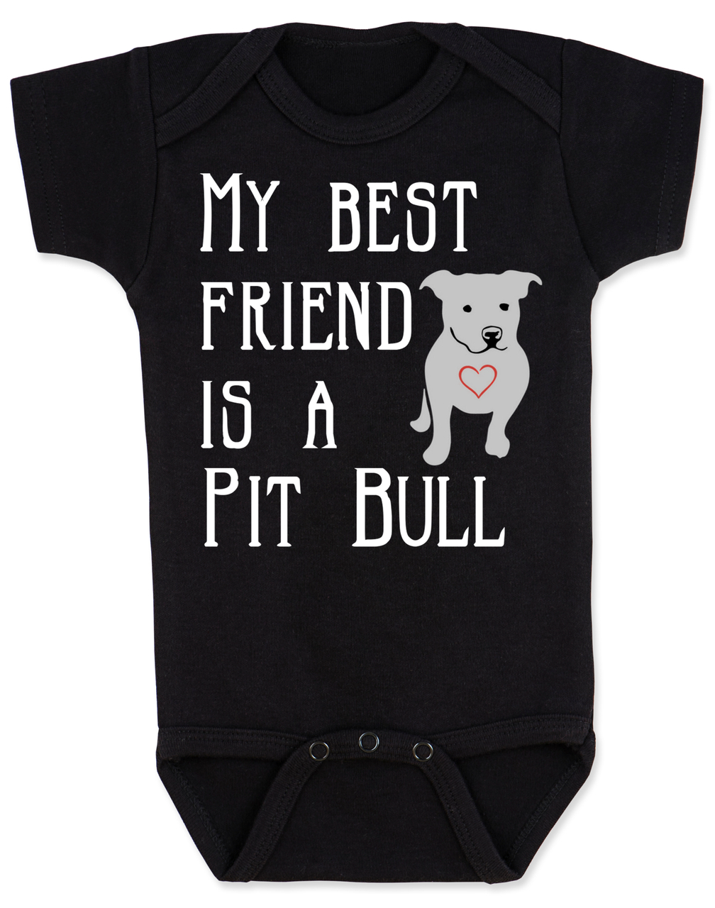 VBabies Best Friend Love A Bull Bodysuit Personalized Dog Lover Unique Baby Shower